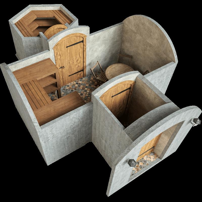 Sechseckige Kammer kamber