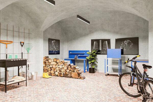 Werkstatt oder großer Abstellraum