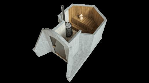 Sauna 4,5 m² STANDARD-LIEFERPAKET